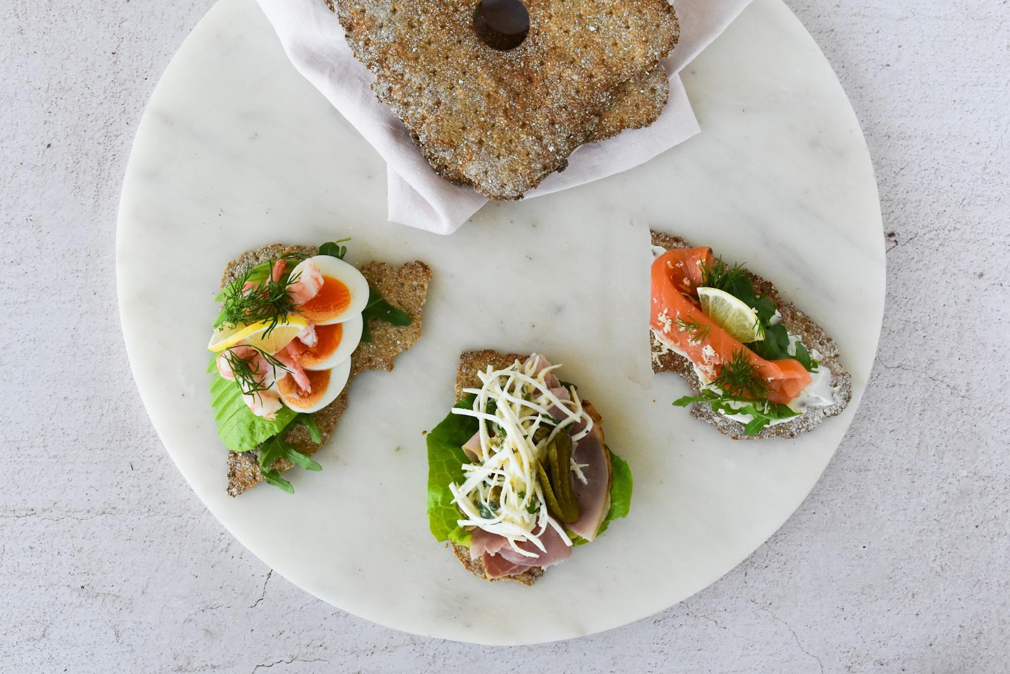 Open Cripbread Sandwiches