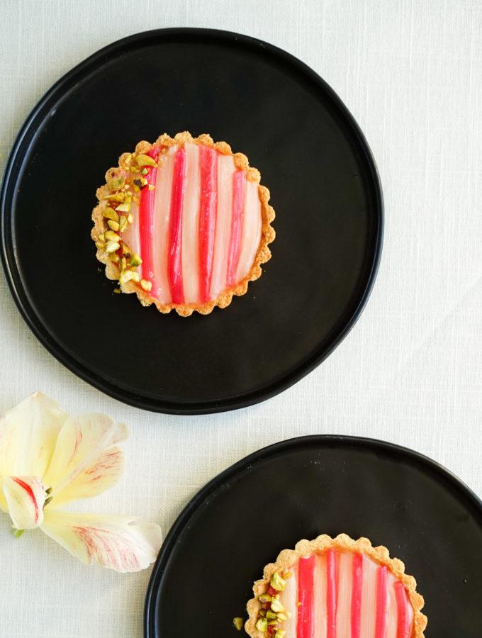 Rhubarb & Blood Orange Tarts