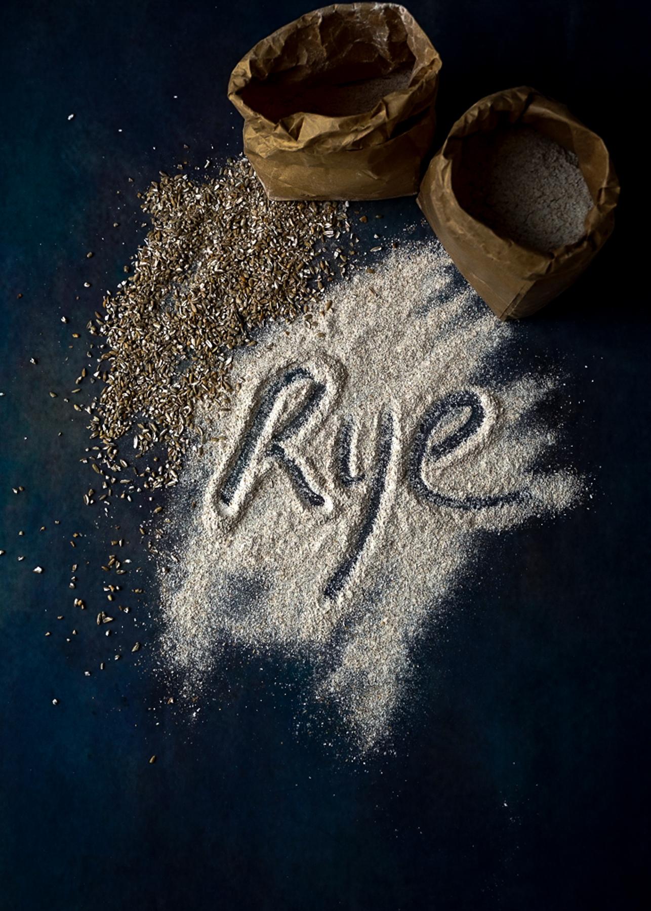 Rye Flour and Kibbled Rye