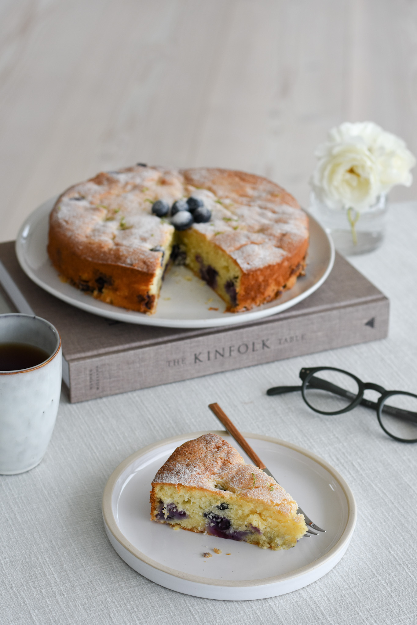 Blueberry Buttermilk & Lime Cake