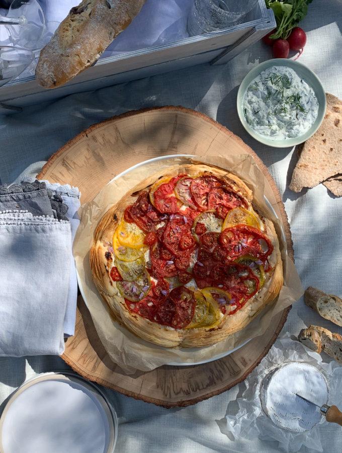 Tomato & Mascarpone Tart