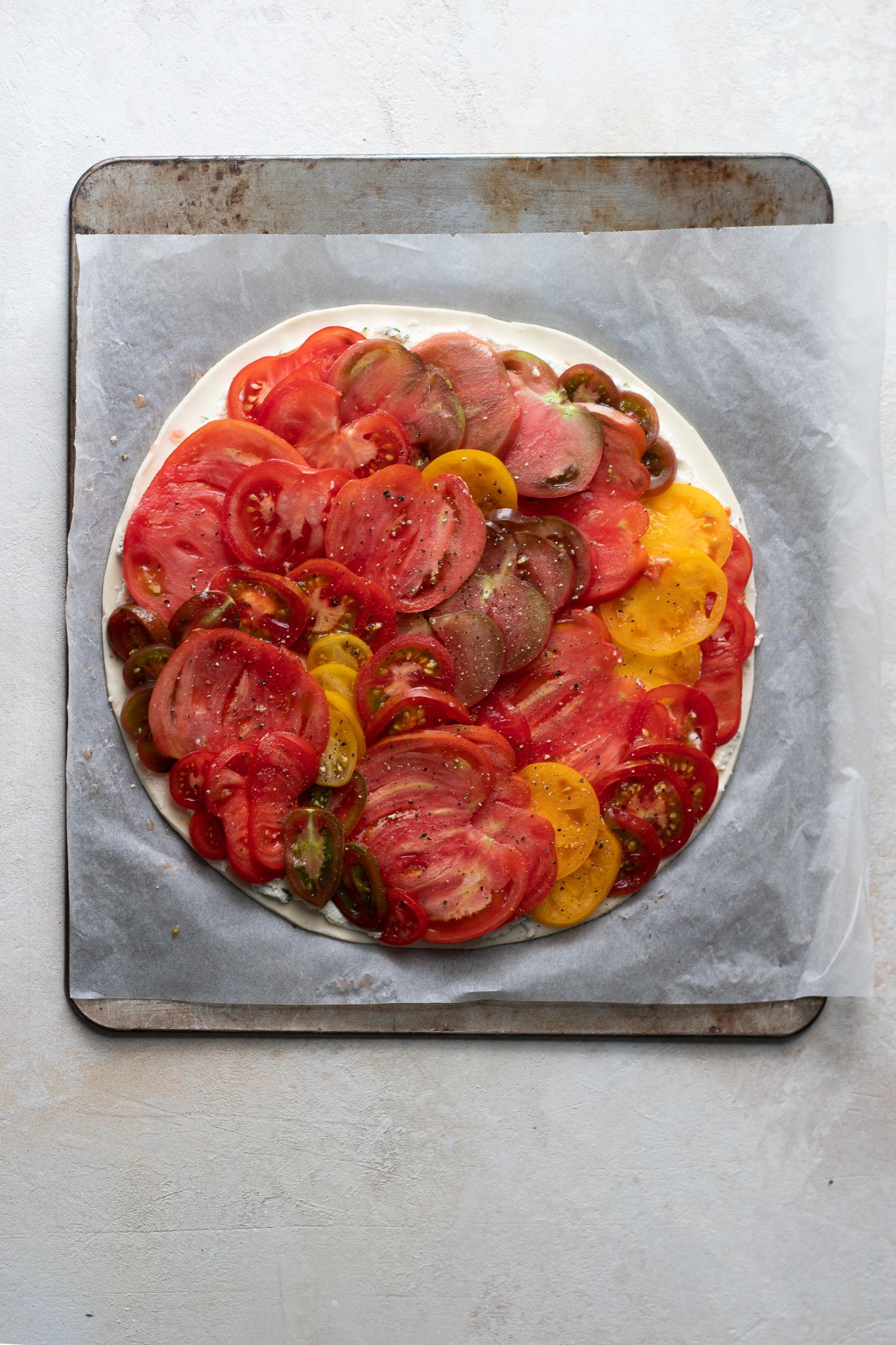 Tomato and Mascarpone Tart,