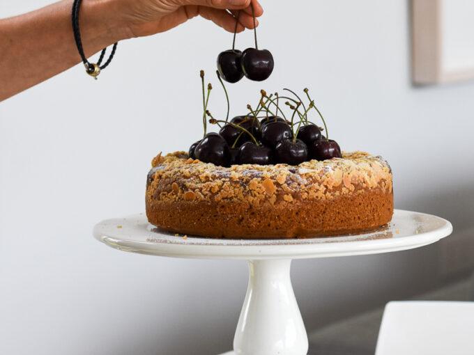 Cherry, Lemon & Almond Cheesecake