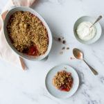 Plum, cobnut & Oat Crunch Crumble