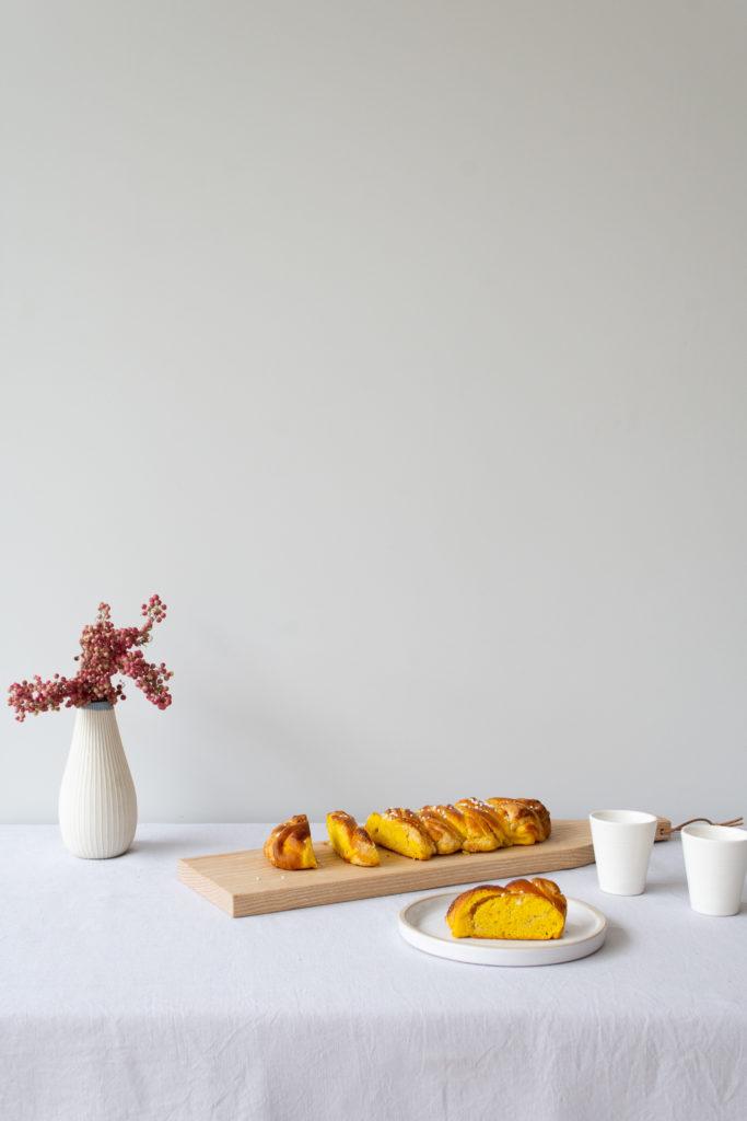 Saffron Bread Flavoured with Almond & Vanilla