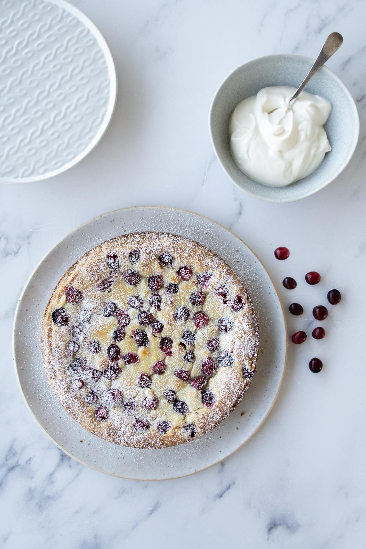 White Chocolate & Cranberry Kladdkaka