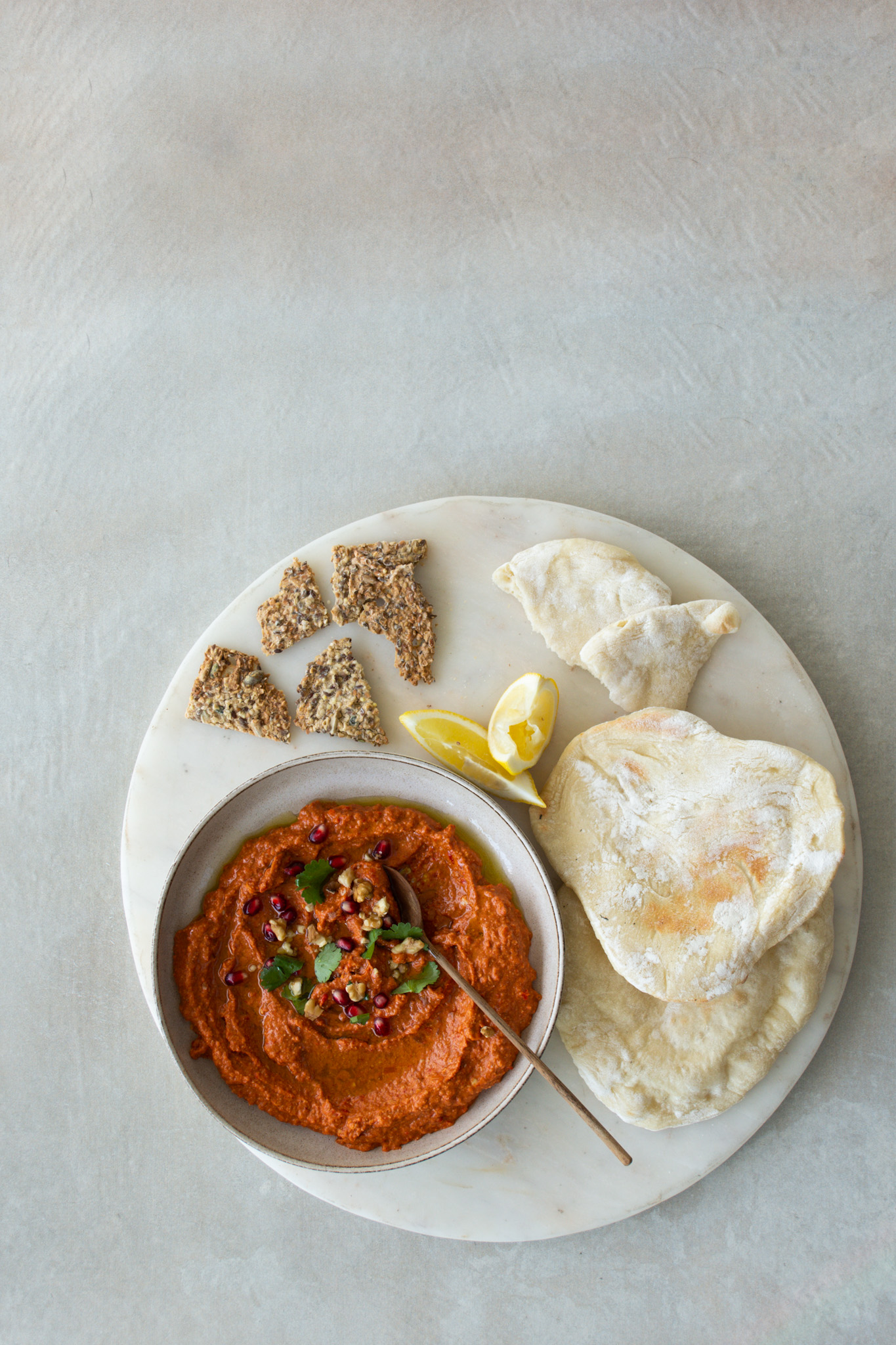 Muhammara Dip with Pitta Bread