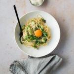 Spaghetti with lemon & asparagus