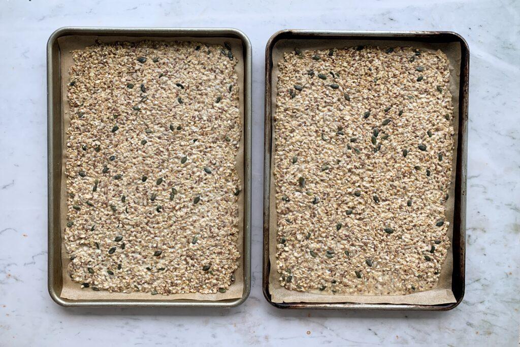 Seeded Crispbread, pre-baking