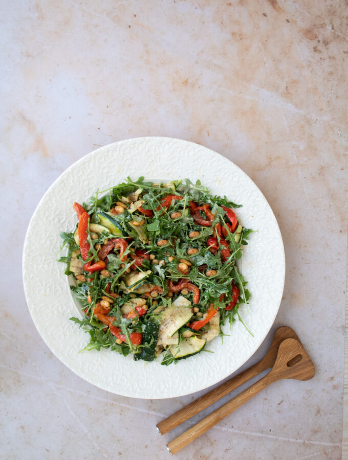 Roasted Vegetable & Rocket Salad with Pimenton Roasted Almonds