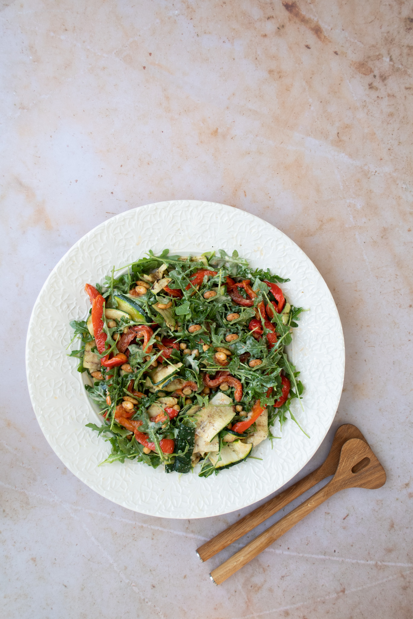 Roasted Vegetable & Rocket Salad with Pimenton Roasted Almonds