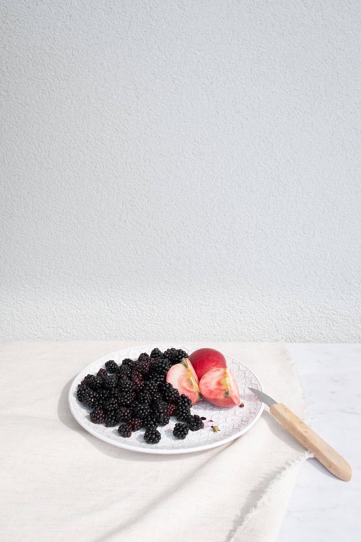 Blackberries & Rosette Apples