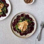 Beetroot Carpaccio, Pickled Blackberries, Halloumi & Granola