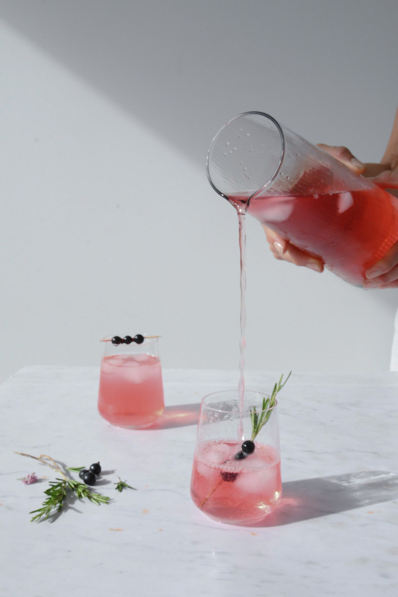 Blackcurrant Shrub Drink