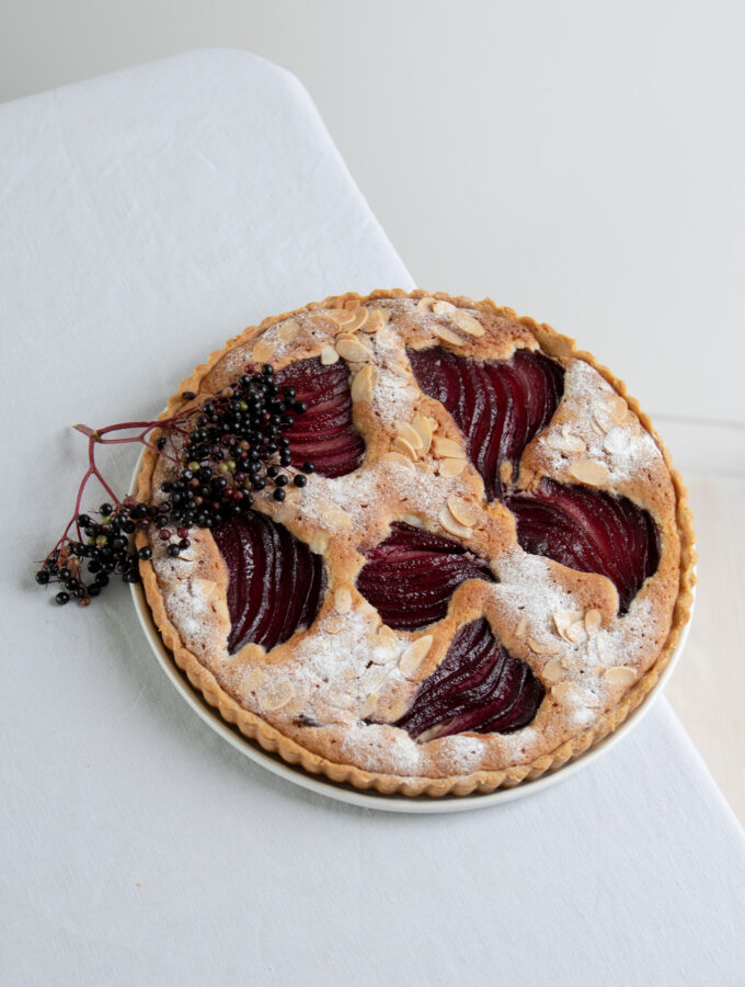 Elderberry & Pear Frangipane Tart