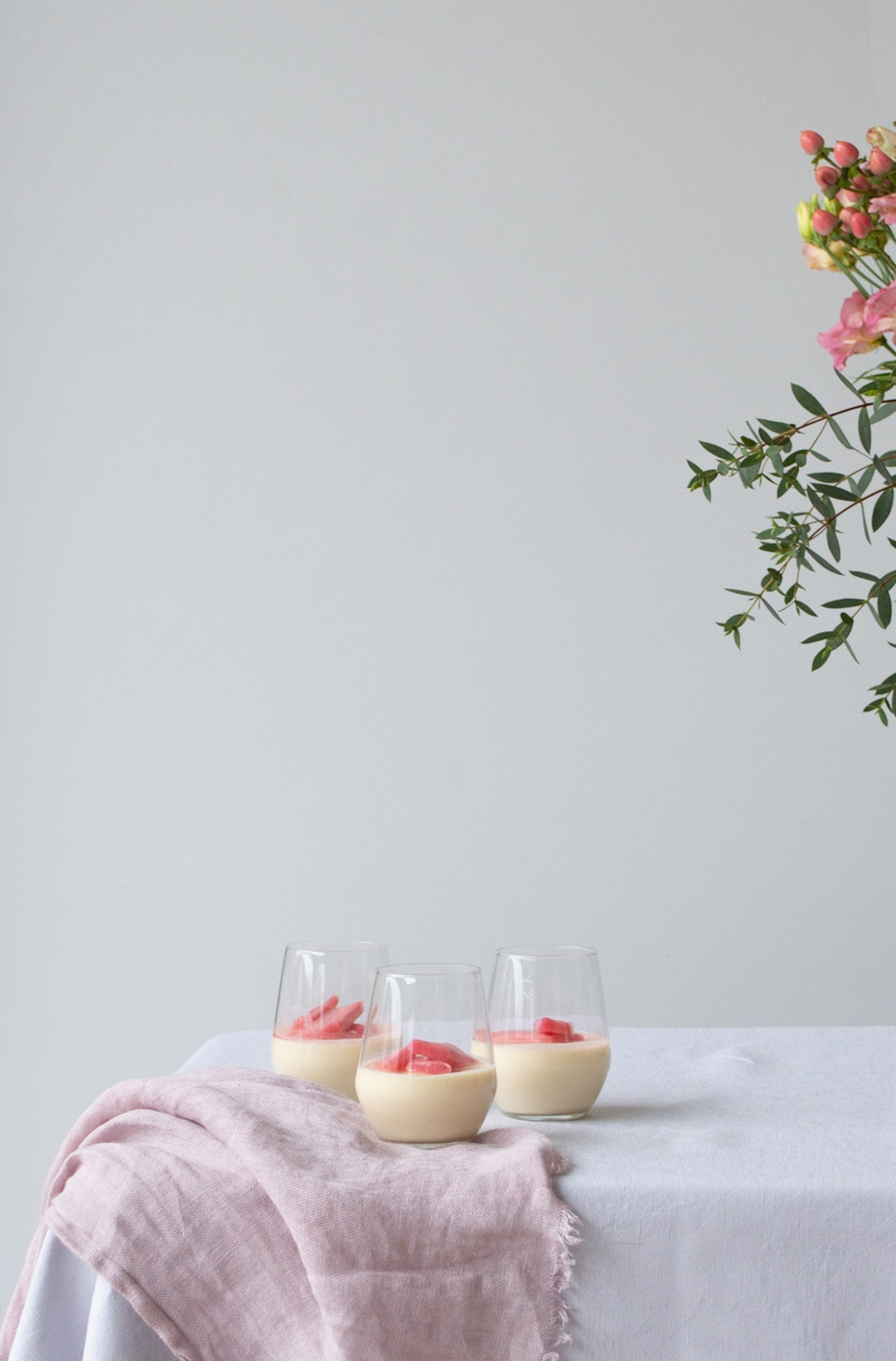 Rhubarb & Blood Orange Posset