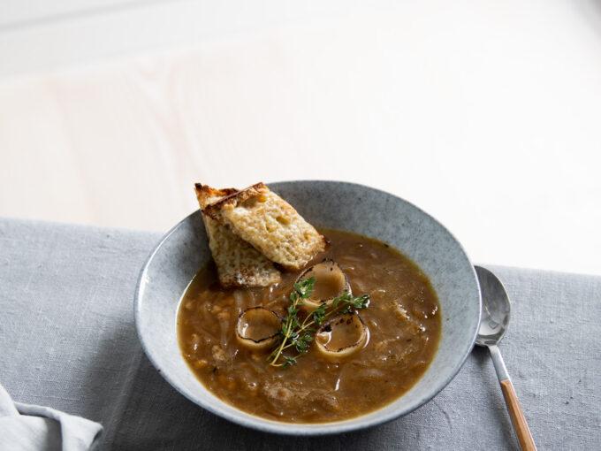 Onion, Pearl Barley & Cider Soup