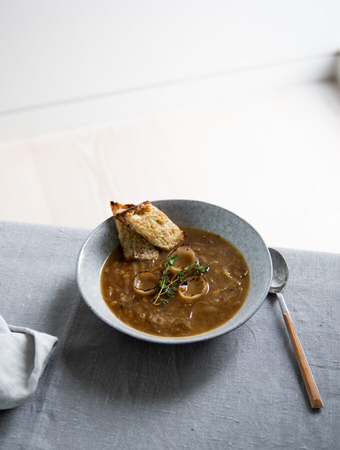 Onion, Pearl Barley & Cider Soup