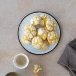 Saffron & Hazelnut Crinkle Cookies
