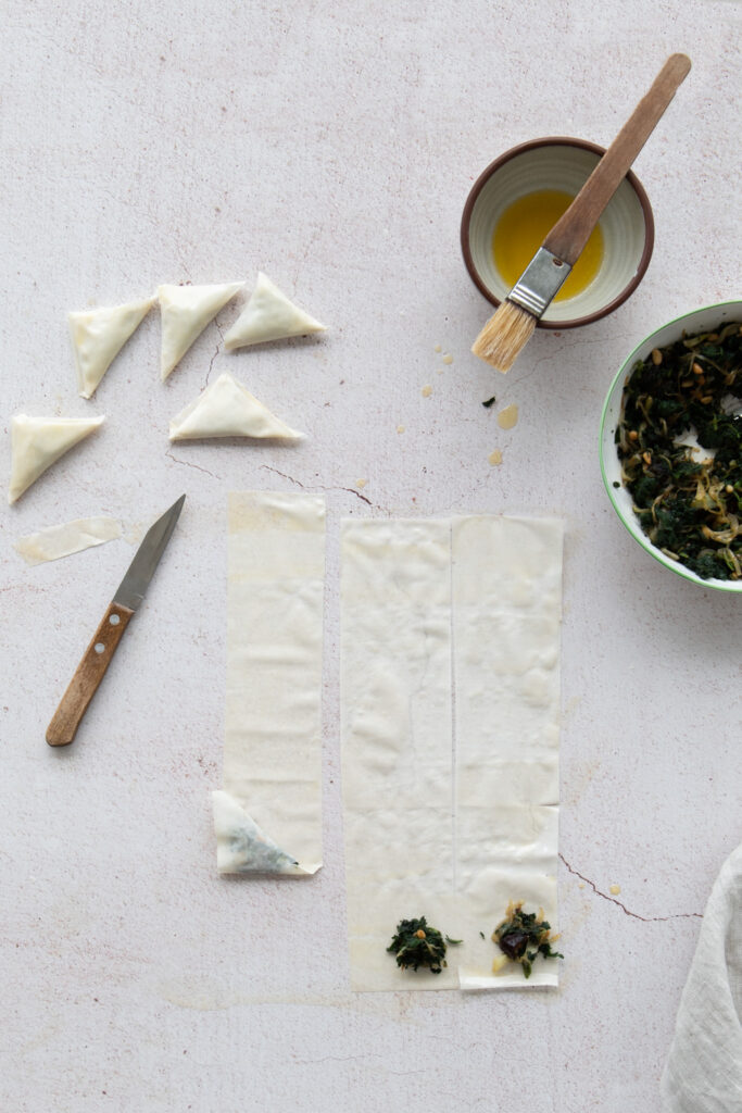 Nettle & Pine Nut Parcels with Whipped Feta