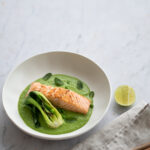 Sea Trout with Pea & Lemongrass Veloute