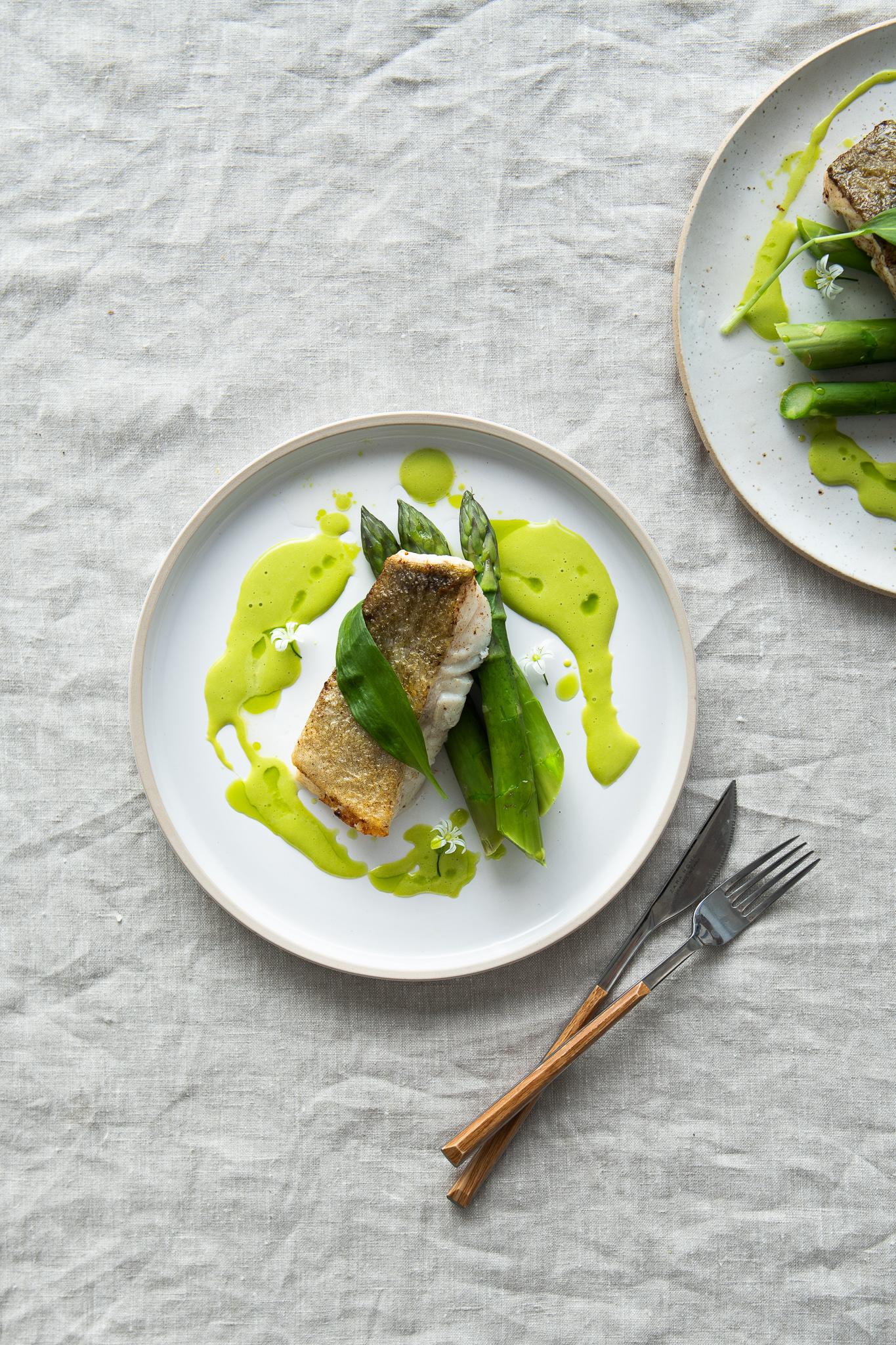 Braised Cod with Wild Garlic Emulsion