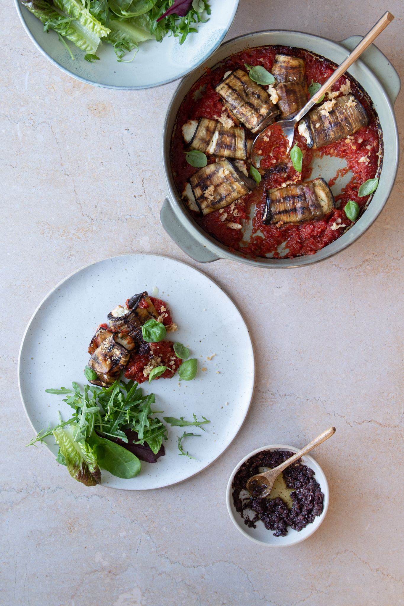Stuffed Aubergine with Olive Tapenade 2