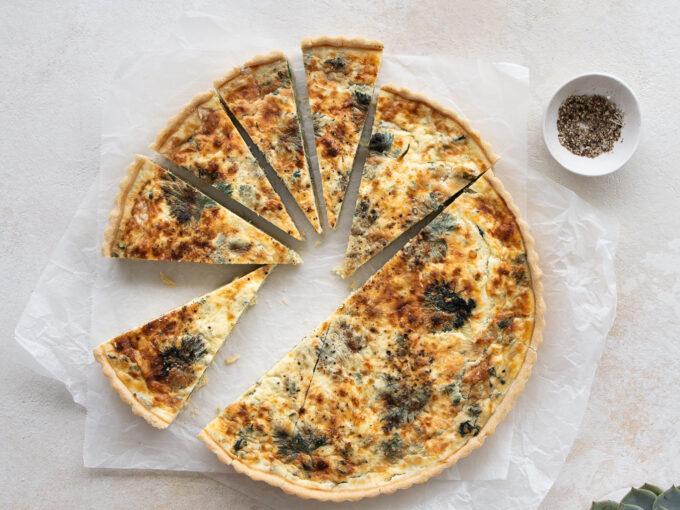 Wild Garlic & Nettle Tart