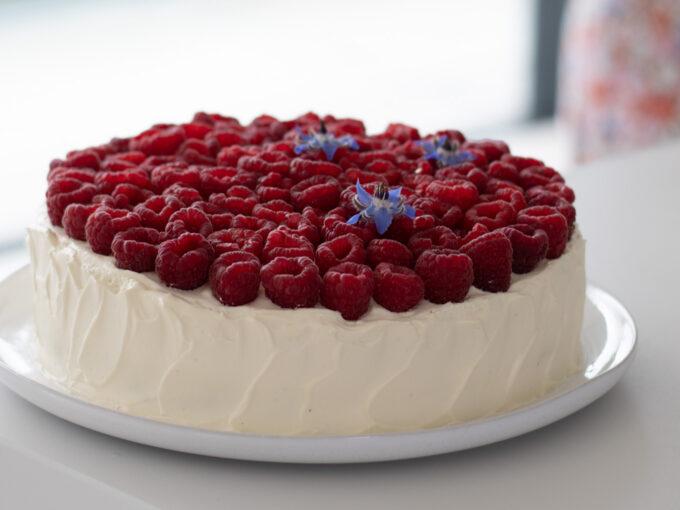 Featherlight Raspberry Cream Cake
