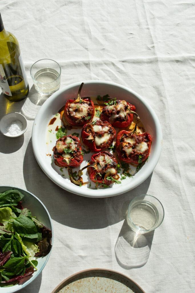 Vegetarian Mushroom Stuffed Peppers