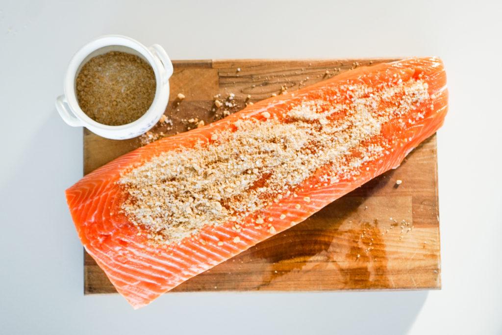 Salmon with Sugar and salt
