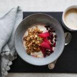 Granola, Live Yoghurt & Steamed Rhubarb