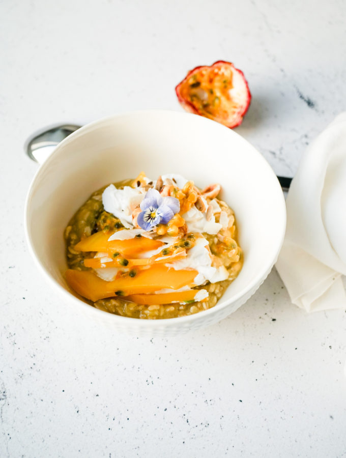 Tropical Fruit Bircher Muesli