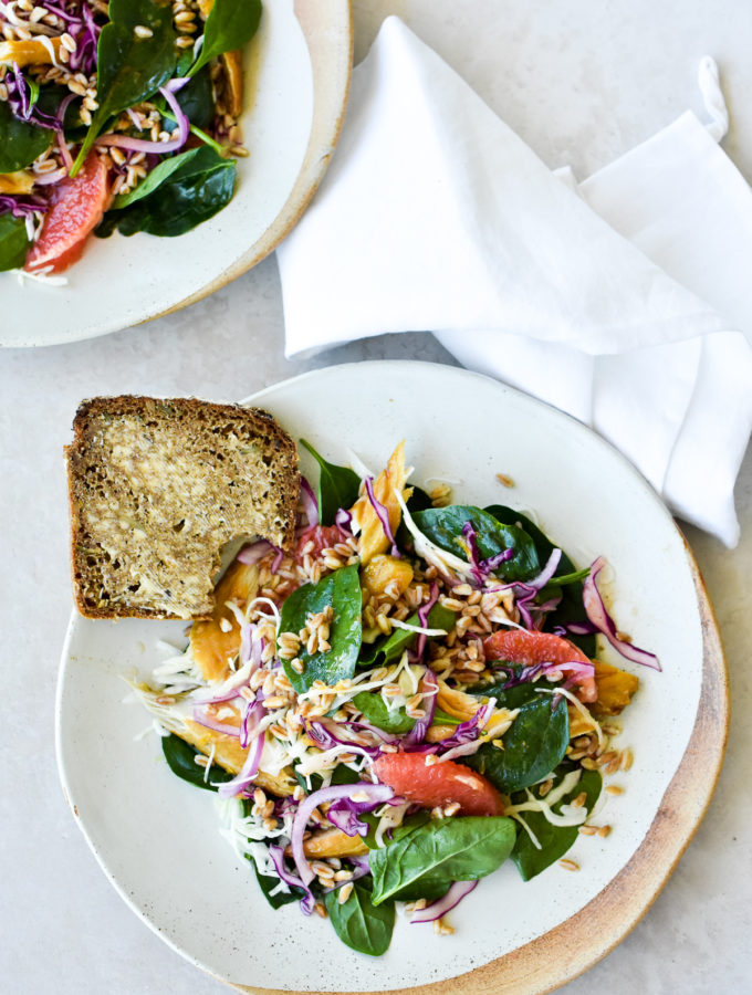 Smoked Mackerel Salad with Miso Dressing