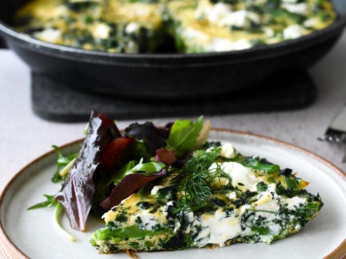 Healthy Green Vegetable Frittata