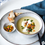 Celeriac, Spiced Apple & Pancetta Soup