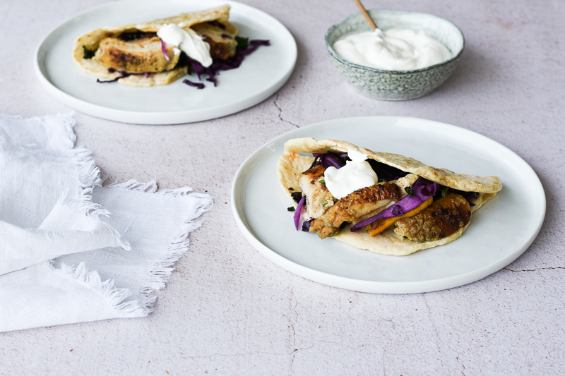 Chicken Wraps with Greek Yogurt