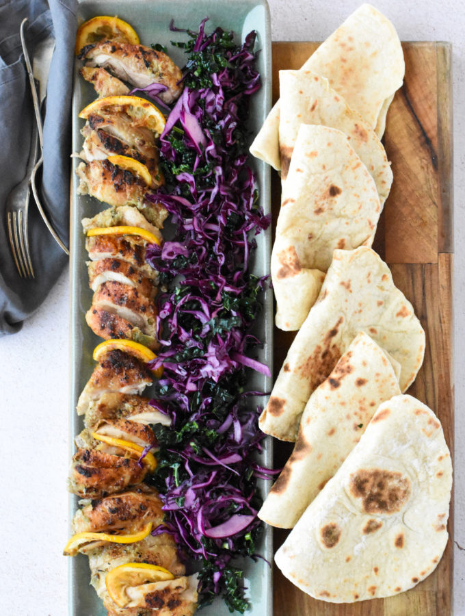 Lemon & Cardamom Chicken Wraps