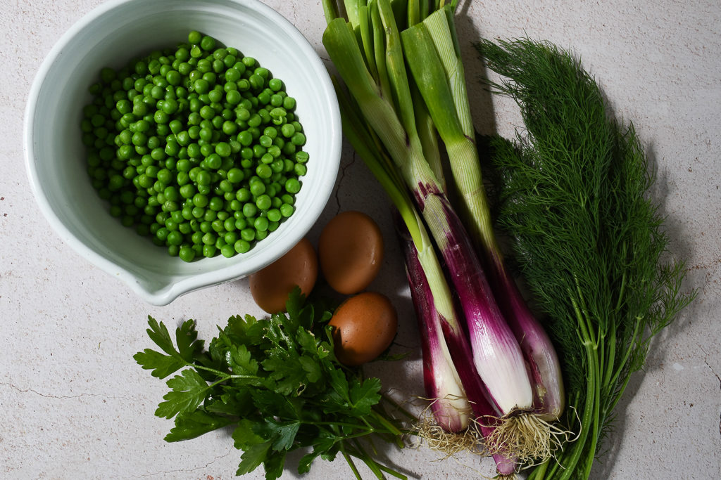Vegetables for Pea & Dill Cakes