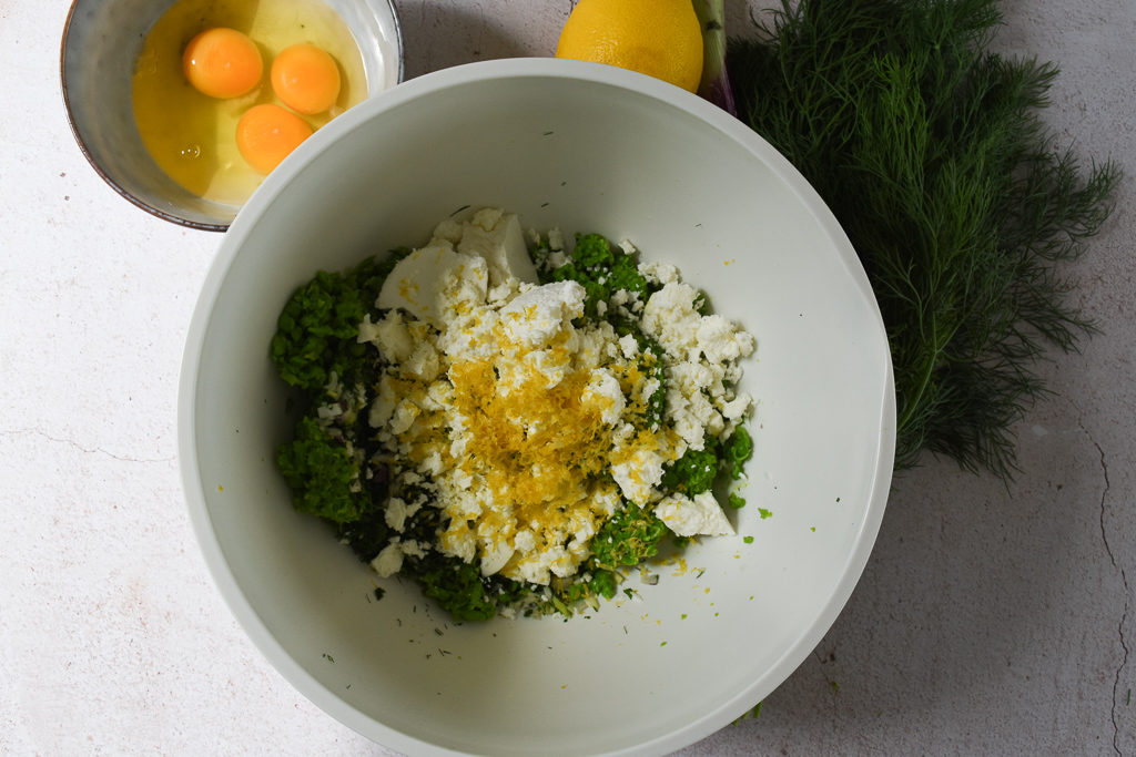 Pea & Dill Cake ingredients